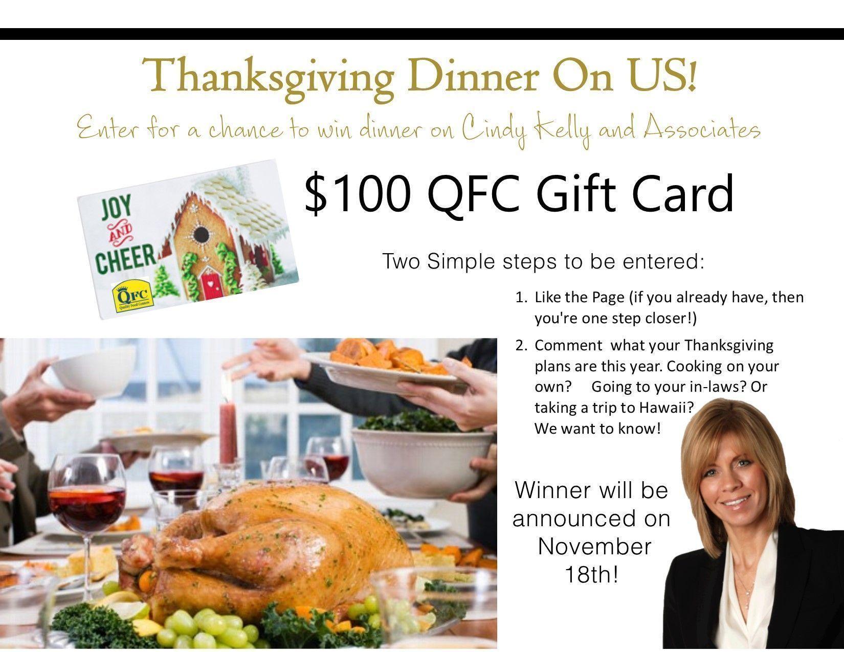 Thanksgiving Dinner on Us